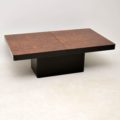 1970's Vintage Italian Burr Walnut Coffee Table