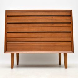 danish walnut retro vintage chest of drawers by cado poul cadovius