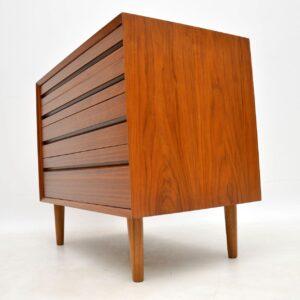 danish walnut retro vintage chest of drawers by cado poul cadovius