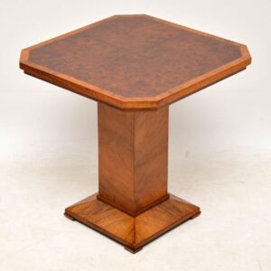 art deco burr walnut coffee table