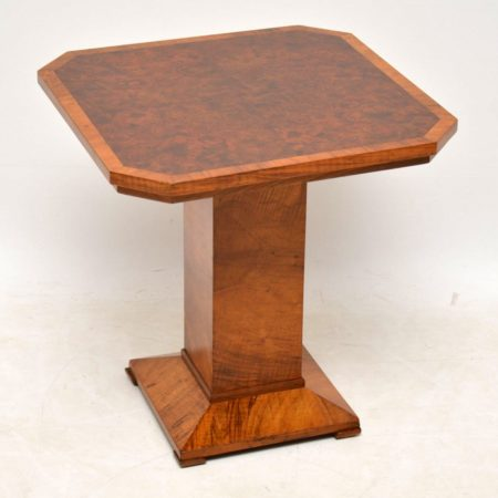 1920's Art Deco Burr Walnut Coffee Table