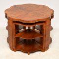 1920's Art Deco Figured Walnut Nesting Coffee Table