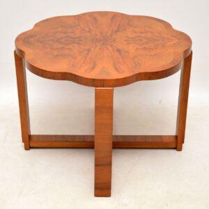 art deco burr walnut coffee table