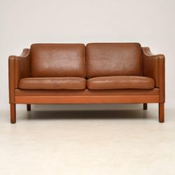 1960's Danish Vintage Leather Two Seat Sofa