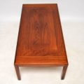 1960's Danish Rosewood Vintage Coffee Table by Vejle Stole