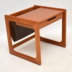 danish teak retro vintage side table