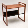 1960's Danish Teak & Leather Side Table by Kai Kristiansen