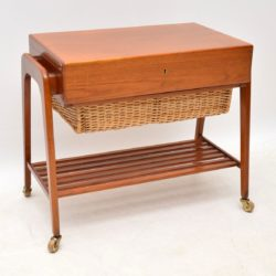 1960's Danish Vintage Teak Trolley / Sewing Table by Povl Dinesen