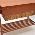 1960's Danish Vintage Teak Trolley / Sewing Table by Povl Dinesen