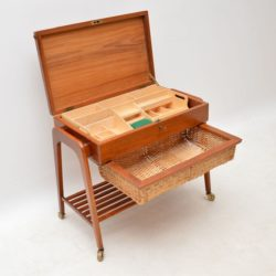 danish teak sewing table box retro drinks trolley povl dinesen