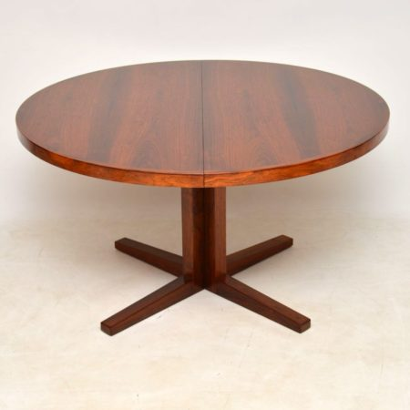 1960's Danish Rosewood Extending Dining Table