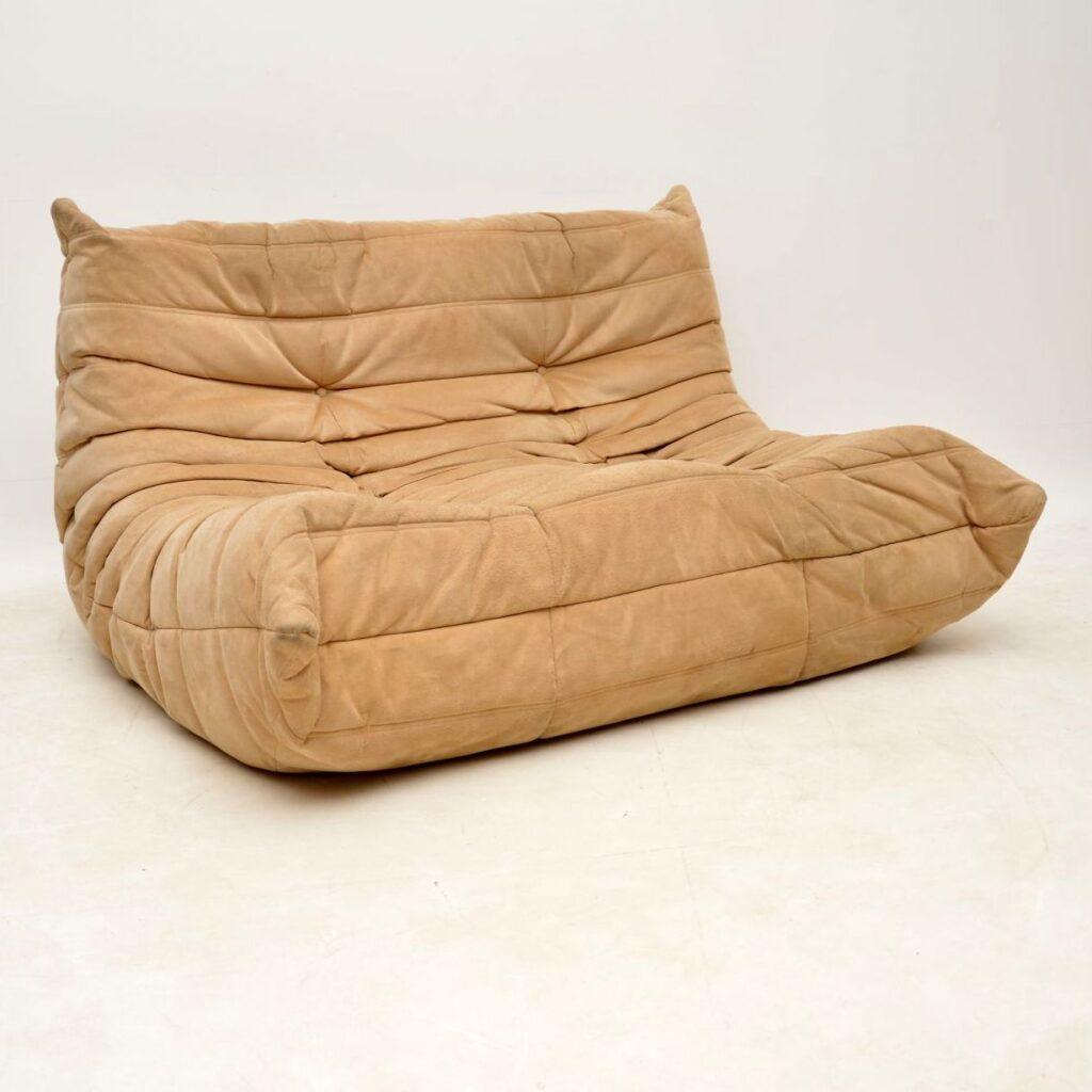 vintage retro ligne roset togo sofa