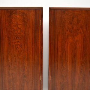 pair of danish retro rosewood vintage cabinets cabinet borge mogensen brouer