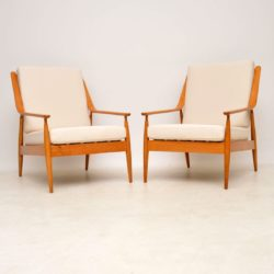1960's Pair of Vintage Newly Upholstered Armchairs