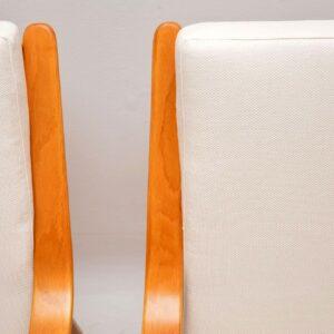 pair of retro vintage danish scandart armchairs