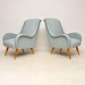 1950's Pair of Retro Italian Armchairs