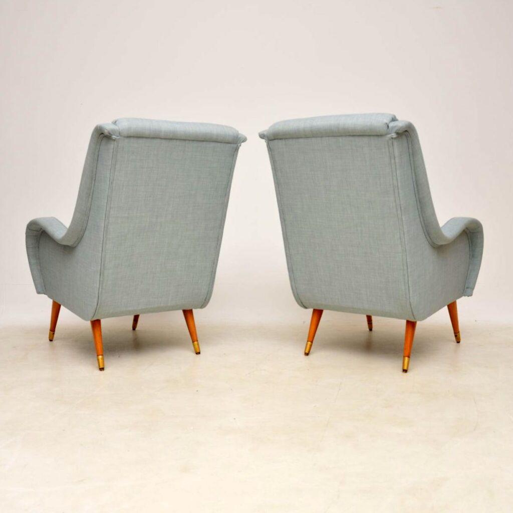 pair of vintage retro italian armchairs