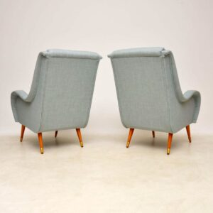 pair of vintage retro italian armchairs