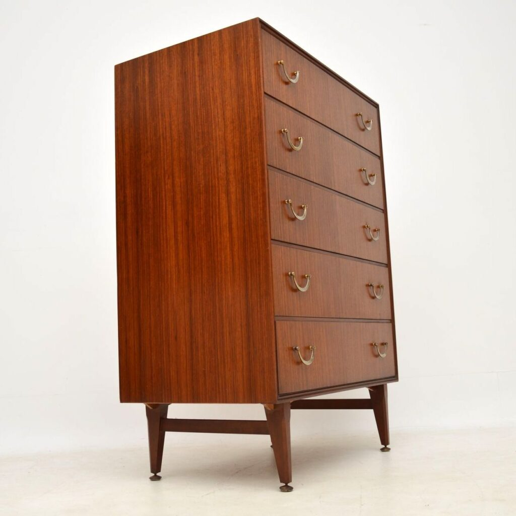 retro vintage rosewood tola chest of drawers
