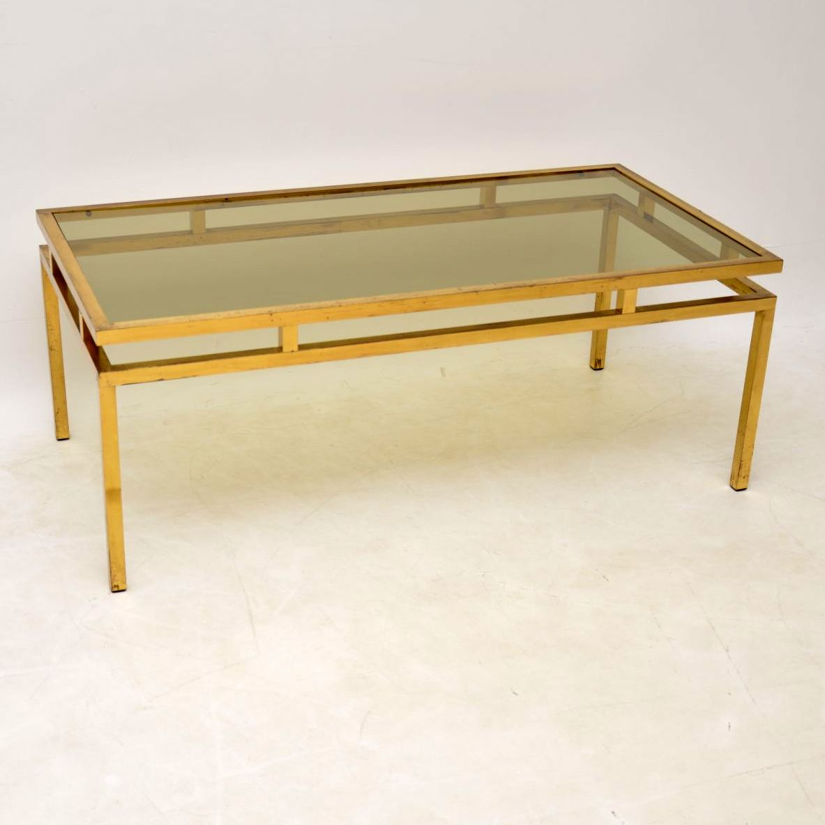 1960 S Vintage French Brass Glass Coffee Table Retrospective Interiors Retro Furniture Vintage Mid Century Furniture Vintage Danish Modern Furniture Antique Furniture London