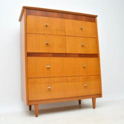 1950's Vintage Oak Vanity Chest of Drawers