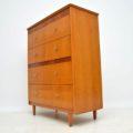1950's Vintage Oak Vanity Chest of Drawers
