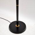 1950's Vintage Ebonised Wood & Brass Floor Lamp