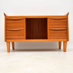 retro vintage walnut sideboard drinks cabinet