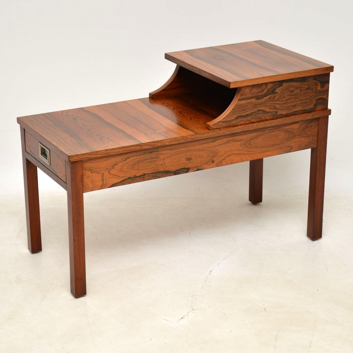 rosewood retro vintage side table entry bench telephone table