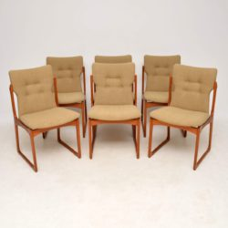 1960's Set of Danish Vintage Teak Dining Chairs