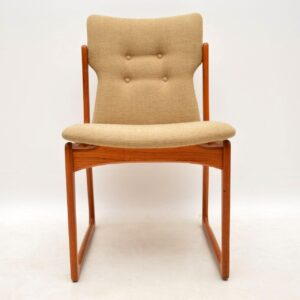 danish teak retro vintage dining chairs