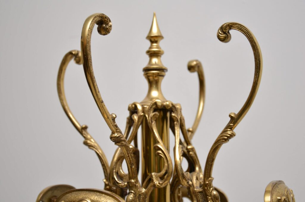 vintage retro antique brass italian hatstand coat rack