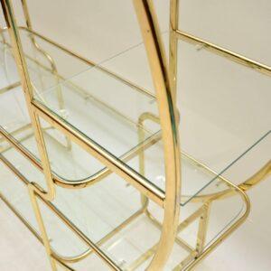 italian brass retro vintage display cabinet bookcase