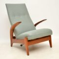 1960's Rock 'n' Relax Armchair & Stool by Rastad & Relling for Gimson Slater