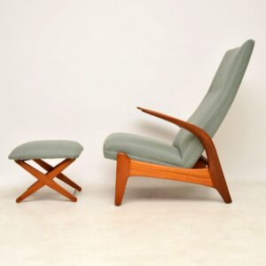 1960's Rock 'n' Rest Armchair & Stool by Rastad & Relling