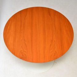 teak vintage retro arkana tulip base dining table