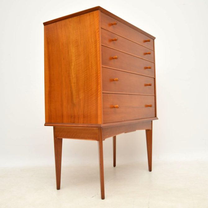 retro vintage walnut chest of drawers alfred cox