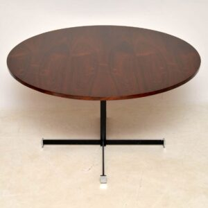 1960's Rosewood & Chrome Circular Dining Table