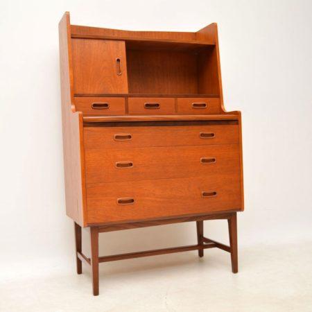1960's Danish Teak Vintage Writing Bureau