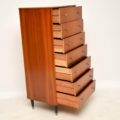 1950's Vintage Tola & Brass Tallboy Chest of Drawers