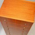 retro vintage 1950s tola tallboy chest of drawers