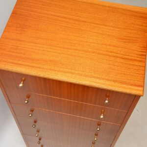 retro vintage 1950s tola tallboy chest of drawers
