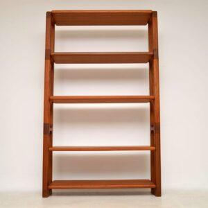1960's Danish Vintage Teak Bookcase by Dyrlund