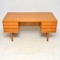 1960's Danish Oak Vintage Desk by Gunni Omann