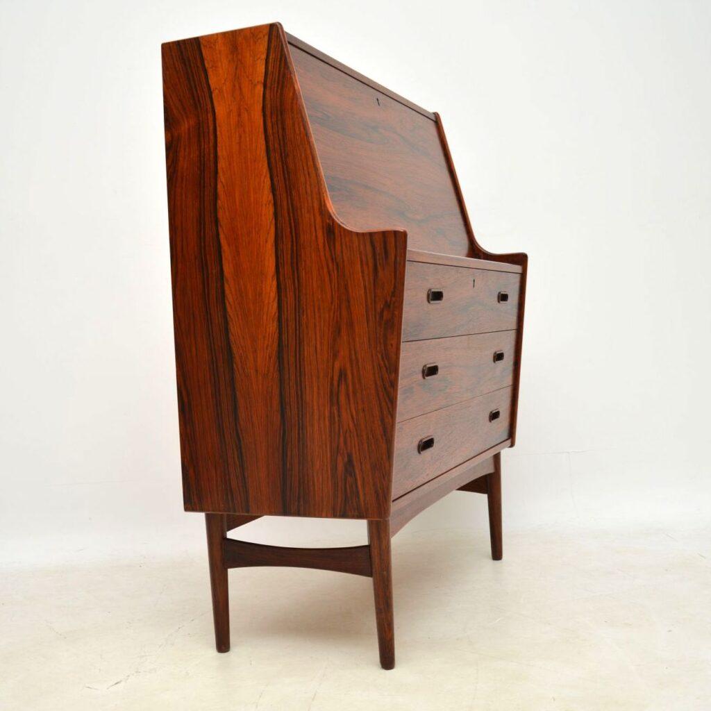 danish rosewood retro vintage bureau arne whal iversen