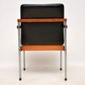 1960's Vintage Teak & Chrome Desk Chair / Armchair