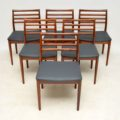 1960's Danish Rosewood Dining Table & 6 Chairs by Erling Torvits