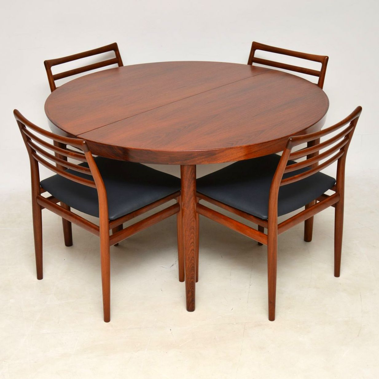 1960 S Danish Rosewood Dining Table 6 Chairs By Erling