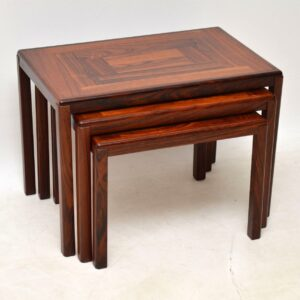 1960's Danish Rosewood Nest of Tables