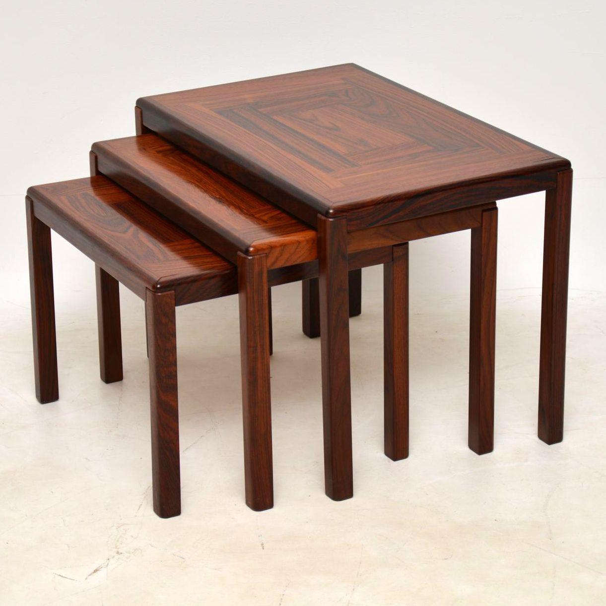 danish nest of tables retro vintage